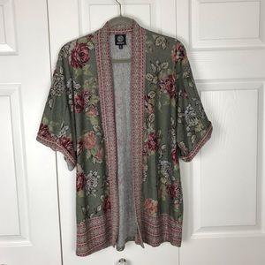 Bobeau Knit Kimono Size Medium EUC